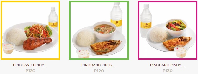 Goldilocks Pinggang Pinoy Meals