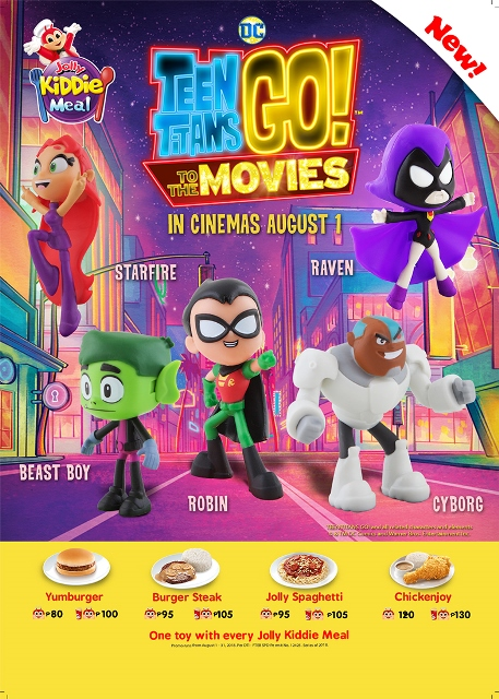 Jollibee Kiddie Meal's New Teen Titans Go! To the Movies Collectibles
