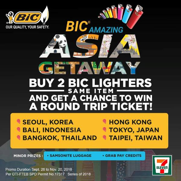 BIC Lighters Philippines Amazing Asia Getaway Promo