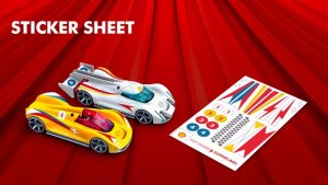 Shell Saltwater Supercars Sticker Sheet - New Toy Concept and Racing Experience