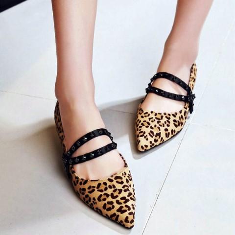 FSJshoes Leopard Print Flat Shoes