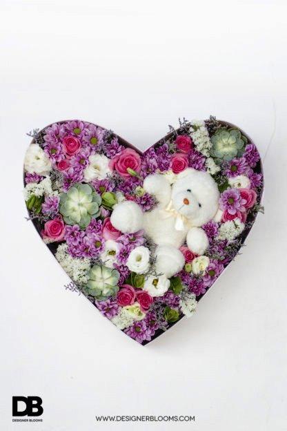 Lazada's Valentine's Day Sale - Rose Bear Heart Box