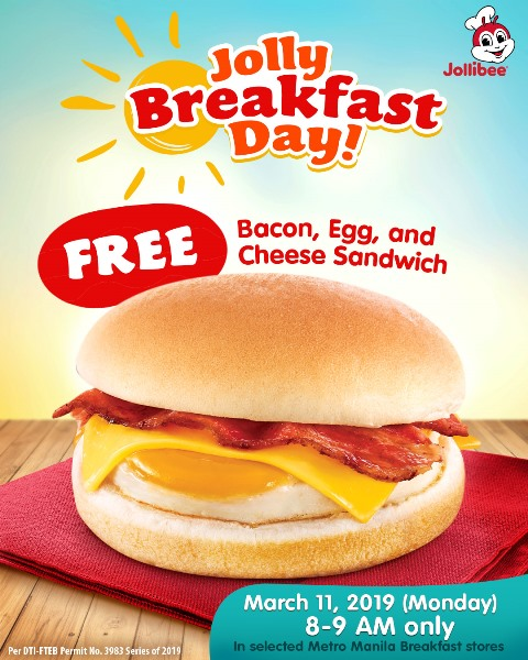 Jollibee Jolly Breakfast Day