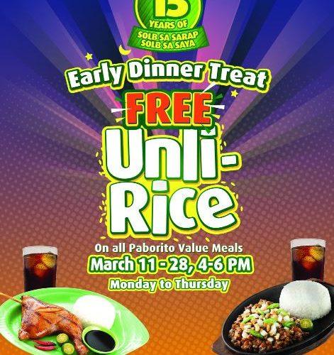 Mang Inasal FREE Unli Rice