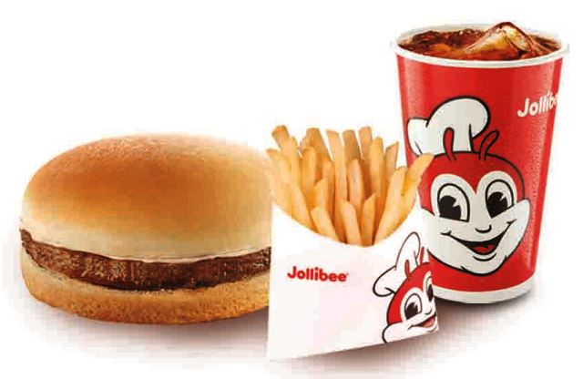 Jollibee Burger Fries Drink