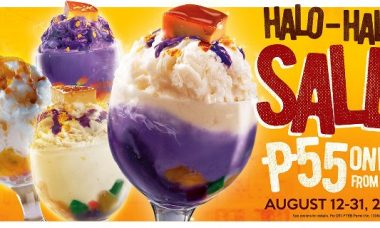 Kuya J Halo-halo sale at P55 only