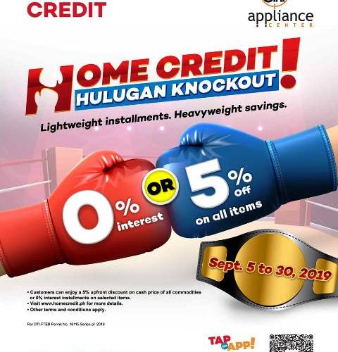 Home Credit Knockout Hulugan Promo