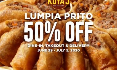 Kuya J Lumpia Prito on 50% Off
