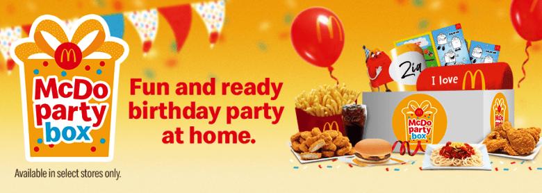 McDo Party Box