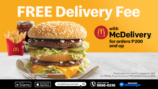 McDonald's Free Delivery