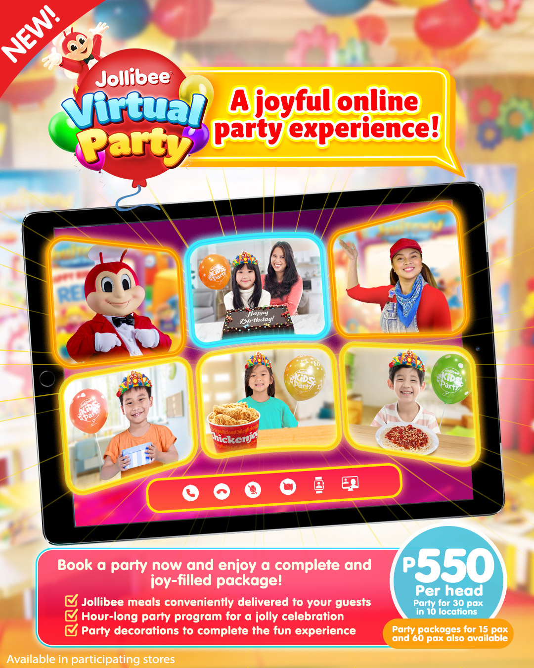 Joyful Celebrations with Jollibee's Virtual Party