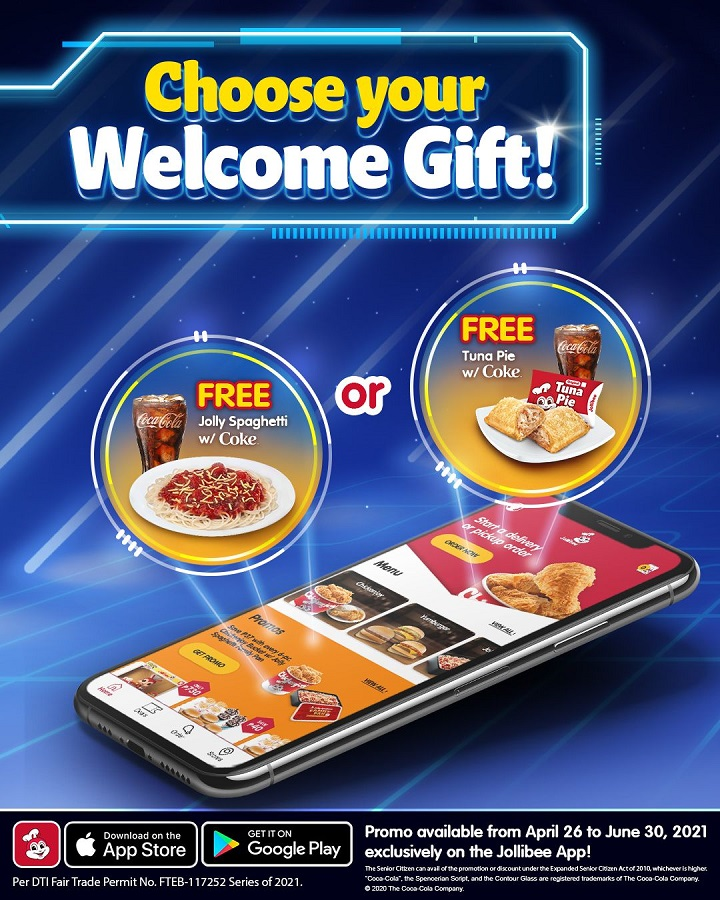 Jollibee Delivery App April 26 Welcome Gift