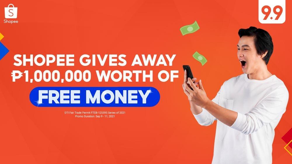Shopee 9.9 Super Shopping Day Free Money